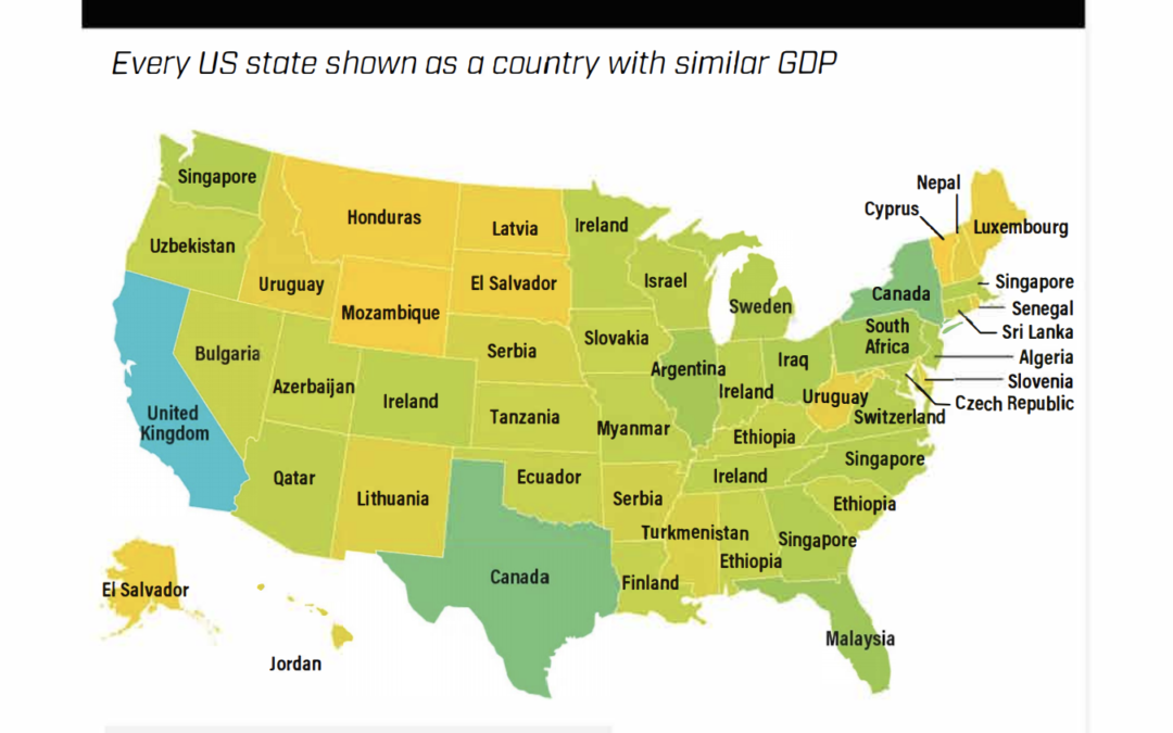 States the Size of Countries